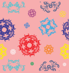 seamless pattern with colorful decor vector image vector image