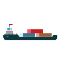 ship boat sea isolated tanker vector image