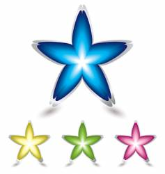 star flower icon vector image vector image
