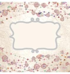 Vintage flower template vector image