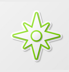 Windrose abstract symbol vector