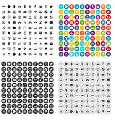 100 virtual icons set variant vector