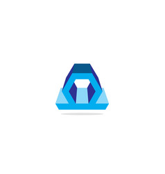 3d shape company logo vector image