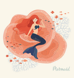 a of a mermaid sitting on vector image