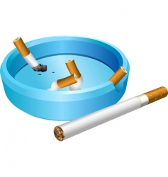 ashtray vector image