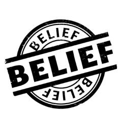 Belief rubber stamp vector