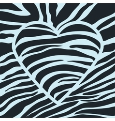 Black heart with stripes vector