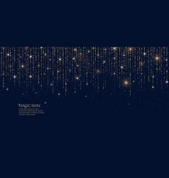bright magic rain sparkling vector image