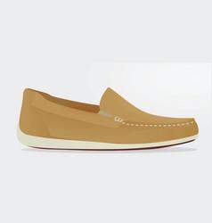 Brown loafer vector