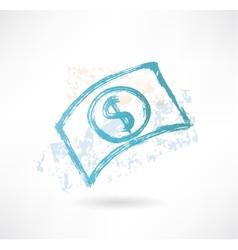 Brush paper dollar icon Money vector image