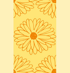 Calendula seamless pattern vector