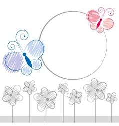 Cartoon butterfly vector