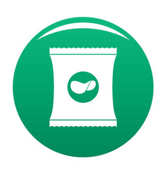Chips icon green vector