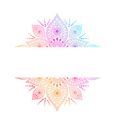 colorful intricate mandala with central white vector image