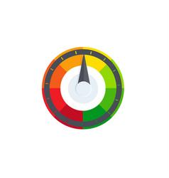 Colorful selector regulator speedometer logo vector