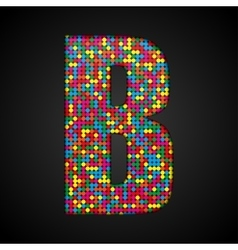 Colorful sequins sings Sequins alphabet Eps 10 vector