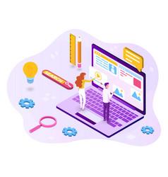 concept web design development vector image