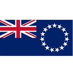 Cook islands flag vector