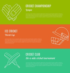 Cricket game concept vector image