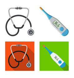 Design of pharmacy and hospital logo vector