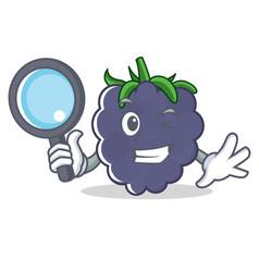 Detective blackberry character cartoon style vector