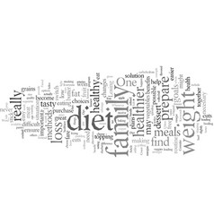 diet tips for the whole family vector image