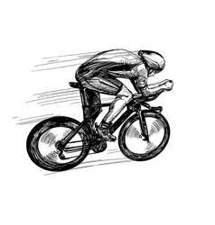 Drawing bicycle competition vector