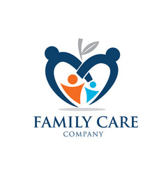 family education love care logo designs vector image