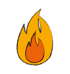 flame fire symbol cartoon vector image
