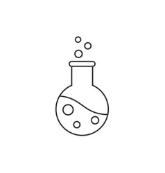 flask line icon on white background editable vector image