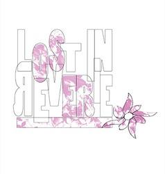 flowers type type flower flowers pink lost vector image