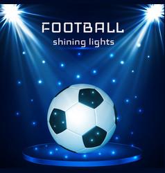 football ball soccer ball on blue background vector image
