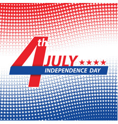 fourth of july usa independence day vector image