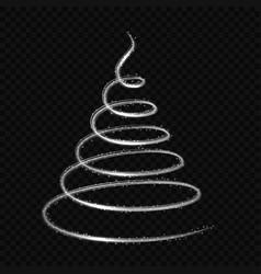 glowing light fire line swirl spiral vector image