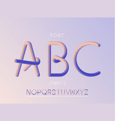 grade 2 font alphabet vector image