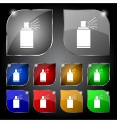 Graffiti spray can sign icon Aerosol paint symbol vector image