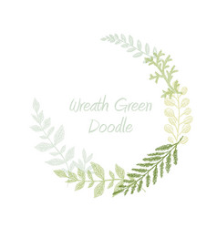 Greenery scribble hand drawn herb border vector