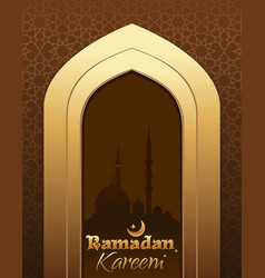 greeting card for ramadan kareem vector image