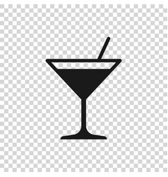 grey martini glass icon isolated on transparent vector image