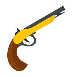Gun icon isolated vector