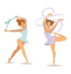 Gymnast girl vector image