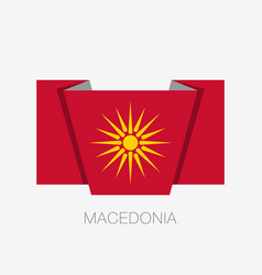 Historical flag of republic of macedonia flat vector