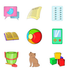 Homester icons set cartoon style vector