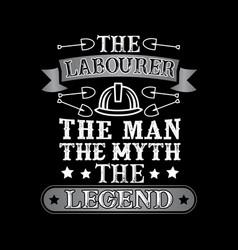 laborer man myth legend vector image