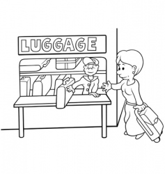 left luggage vector image