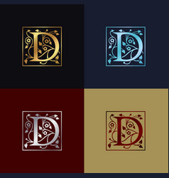 letter d decorative logo vector image