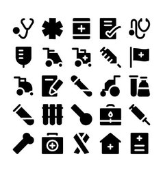 Medical icons 5 vector