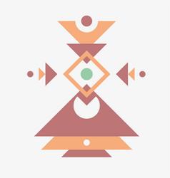 Modern native tribal pattern circle square vector