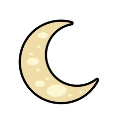 Moon icon Night design graphic vector image