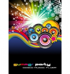 Music background for disco flyers vector